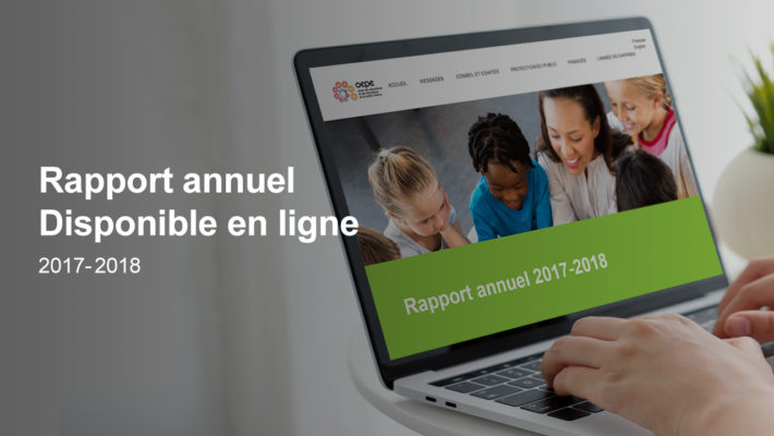 Announcement Annual report on line