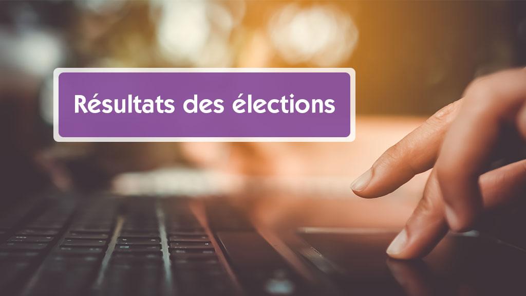 un avis de les resultats des élections