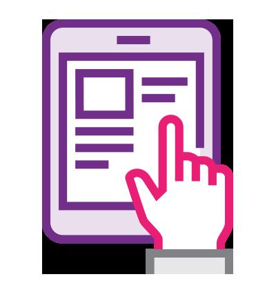 Les ressources sur un tablet
