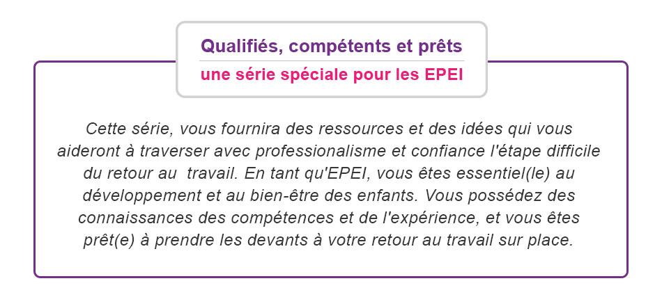 Qualifié, compétent et prêt est une série pour EPEI pour vous aider à vous sentir en confiance lorsque vous retournez au travail sur site.
