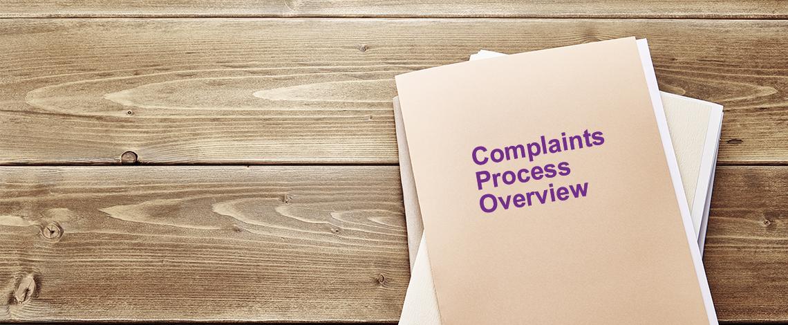 The complaints process
