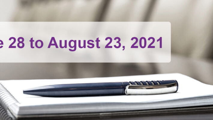 June 28 to August 23, 2021