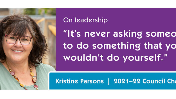 """Kristine Parsons on leadership: """"It's never asking someone to do something that you wouldn't do yourself."""""""